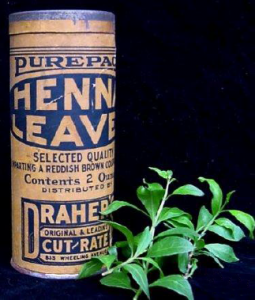 Paquet de henné pur début du 20ème siècle, Etats Unis